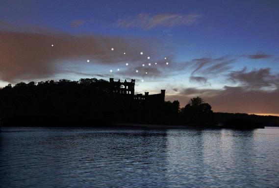 Artist Lights the Sky Above Bannerman Castle