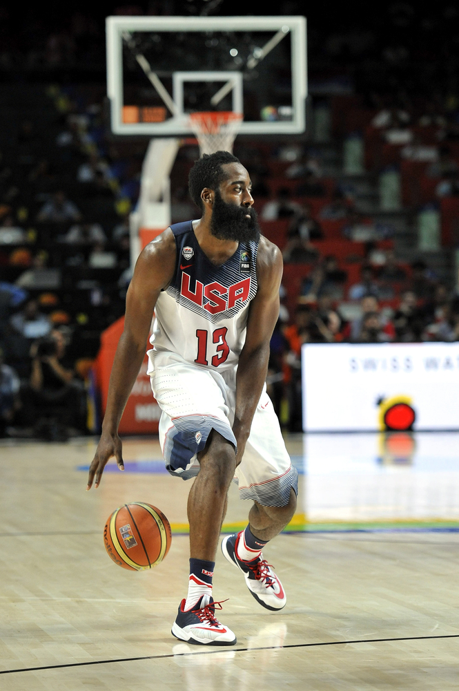 James Harden, who played on the US team during the final game of FIBA Basketball World Cup in Spain, is now sponsored by Adidas.