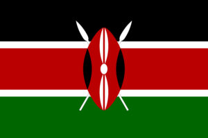 A picture of Kenya's flag.