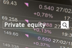 "The keywords ""private equity"" typed into an online search query."