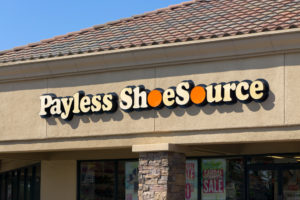 A photo of a Payless store.