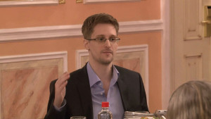Edward Snowden speaks about the NSA at a conference in Moscow