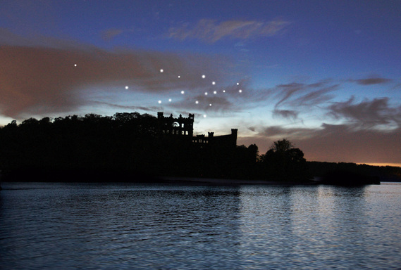 Artist Lights the Sky Above Bannerman Castle