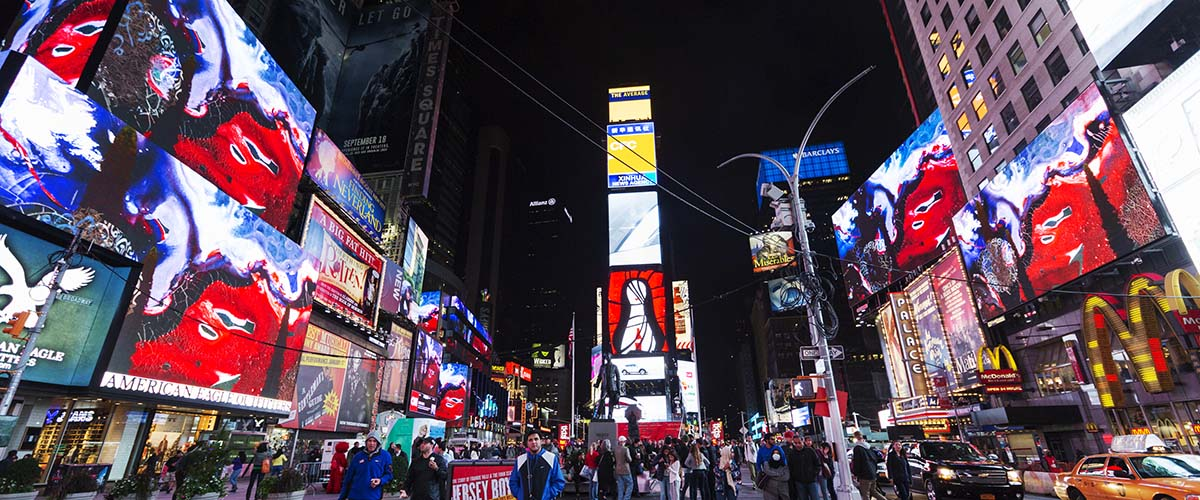 Artist Animates Times Square with the Stuff of Dreams