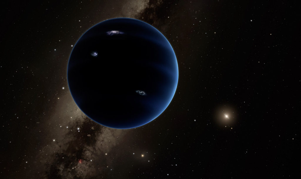 An artist's conception of Planet Nine.
